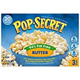 microwave fat free popcorn - Pop Secret Microwave Popcorn, 94% Fat Free Butter, 3 Count Box (Pack of 6)