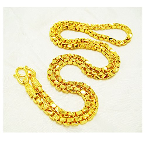 Chain 22k 23k 24k Thai Baht Gold GP Necklace 24