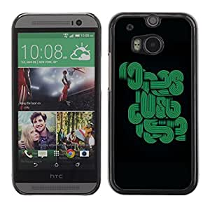 LECELL -- Funda protectora / Cubierta / Piel For HTC One M8 -- Abstract Green Lines --