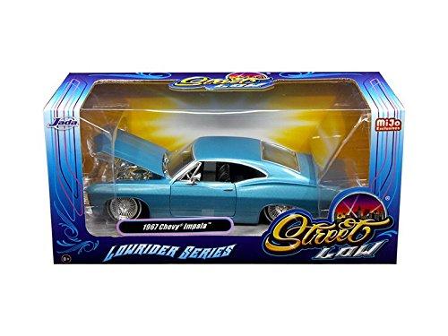 Jada 98935 1967 Chevrolet Impala Blue Lowrider Series Street Low 1/24 Diecast Model - Chevrolet Blue Impala