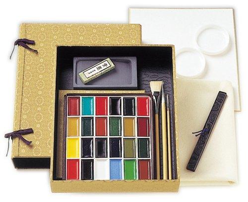 길상 일본화용 그림구 안채 묵채화세트No.3 안채24 색상제입