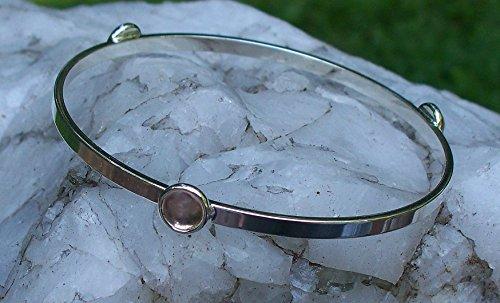 Recycled Antique Pink Depression Glass Stacking Bangle Bracelet