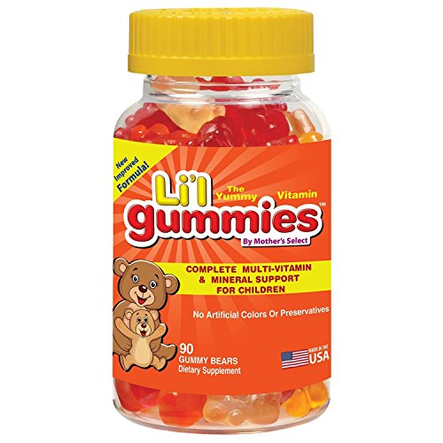 Childrens Gummies - Complete Kids MultiVitamin and Mineral Support in Childrens Vitamins - Mother's Select Li'l Gummies Contain Vitamins A, C, D, E, B & More - Improved Great Tasting Gummy Vitamins!