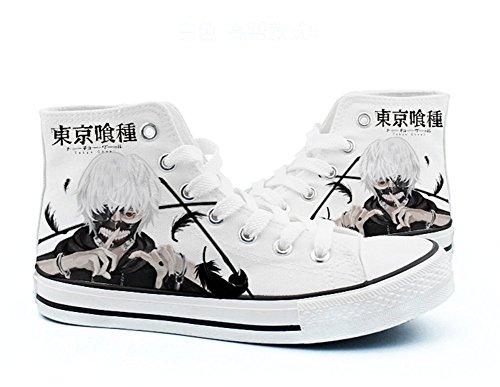 Black Kaneki White Shoes Shoes Cosplay Ghoul Sneakers 5 Ken White Canvas Tokyo wHO1Uqyx