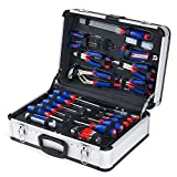 WORKPRO W009019A 119-Piece Tool Kit in Aluminum Case, Home Reparing Set