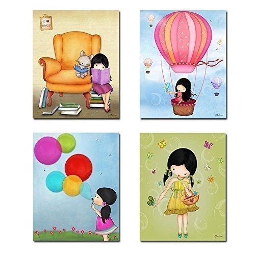 Amazon.com: Art Posters for Girls Room Children\'s Bedroom Wall Decor ...