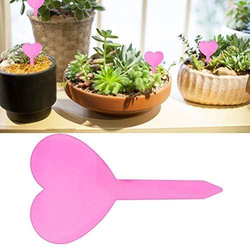 Jeffergarden 10Pcs Etiquetas de Plantas en Forma de corazón Flor a ...