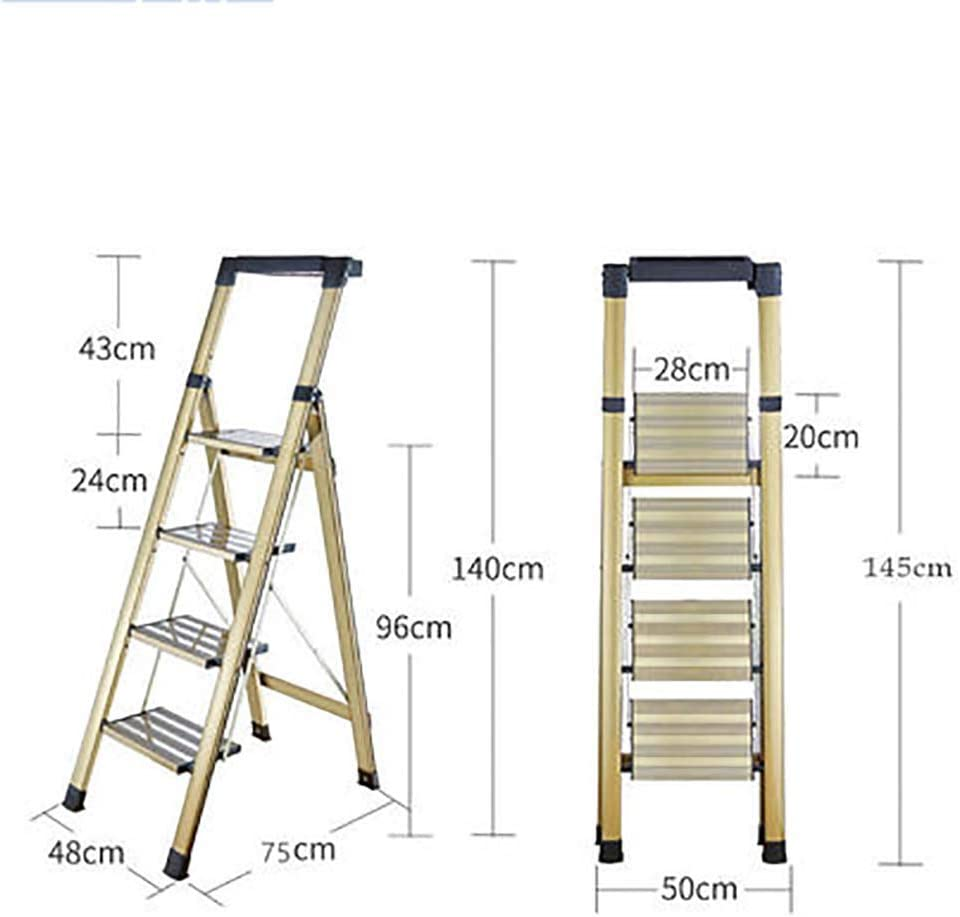 Escalera plegable, multifunción, antideslizante, ligera, multiusos, 2 escalones de 3 peldaños, escalera resistente para el hogar y la oficina: Amazon.es: Bricolaje y herramientas