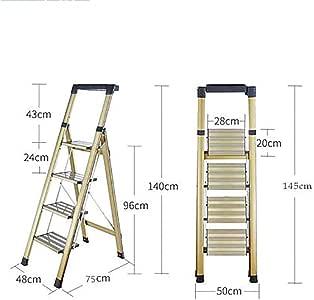 Plegable Escalera,multifunción Escaleras De Mano Antideslizante Ligero Multiusos 2 3 Paso Escalera Pesada Deber Escalera Para Home Loft Office-b4: Amazon.es: Bricolaje y herramientas