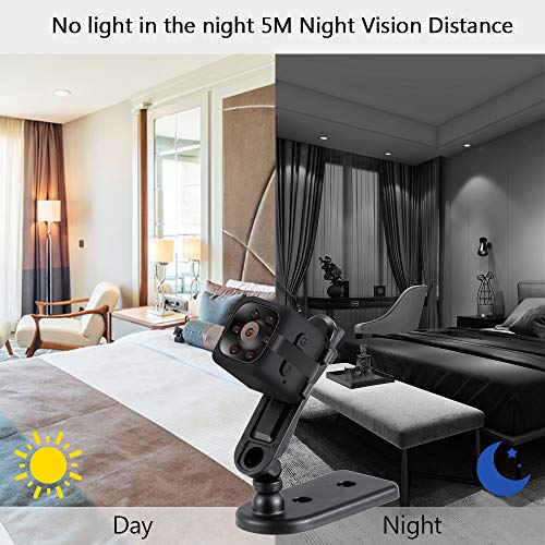 Mini Camera, 1080P HD Wireless Home Security Surveillance Cameras, Portable Cam with Night Vision Motion Detection for Home, Office and Car