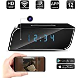 1080P Wi-Fi Clock Spy Camera, Heymoko HD Wireless IP Camera Mini Hidden Nanny Camera Wi-Fi Remote Live Feed Home Security Camera Support Night Vision Motion Detection iOS Android APP PC View