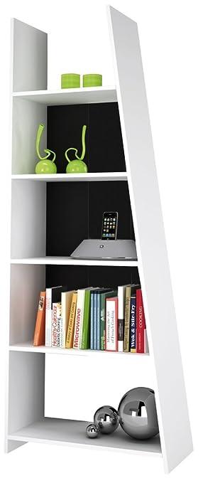 REGAL PISA weiß Bücherregal Standregal schwarz grün 169x63x24cm ...