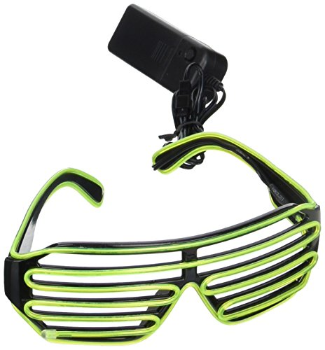 Oliadesign® Neon El Wire LED Light Up Shutter Glasses