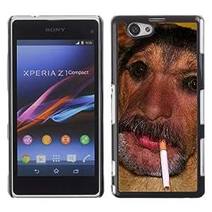 - Funny Kidding - - Monedero pared Design Premium cuero del tir¨®n magn¨¦tico delgado del caso de la cubierta pata de ca FOR Sony Xperia Z1 M51W Z1 mini D5503 Funny House