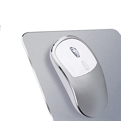 2.4G Wireless Mice,EDTO USB Mute Charging Mouse Ergonomics Optical Game Mouse + Mouse Pad