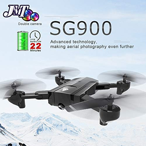 PampasSK RC Helicopters - Drone Dual Camera HD 720P Profession FPV WiFi RC Drone Fixed Point Altitude Hold Follow Me Dron Quadcopter 1 PCs
