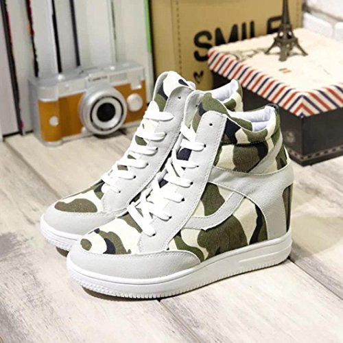 HCFKJ Ankle Boots For Women Ladies Fashion height Increasing Casual Shoes High-Top Breathable Canvas Classic Footwear School Teens Beige G40ZTd8