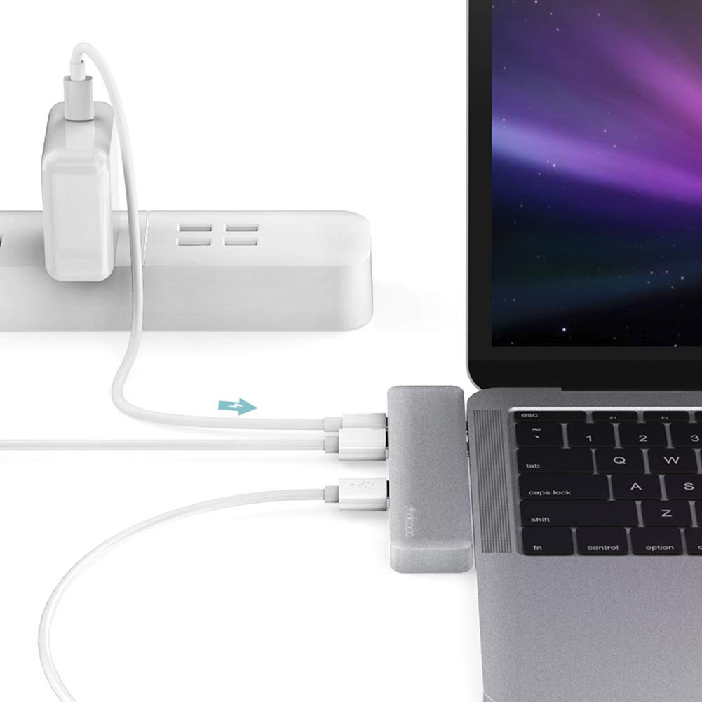 dodocool USB C Hub Adapter for MacBook Air 2019/2018,MacBook Pro 2019/2018/2017/2016 with 4K HDMI,Thunderbolt 3 Port,100W PD,SD/TF Card Reader,3 USB 3.0 Ports (Space Gray) by dodocool