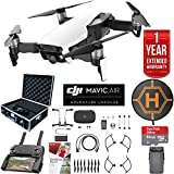 DJI Mavic Air Drone Combo with Remote Controller Extended Fly Bundle with Hard Case , Dual Battery , Landing Pad , Corel Photo Pro , 64GB High Speed Card and 1 Year Warranty Extension (Arctic White)