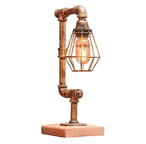Lámpara de escritorio con luz led Lámpara de mesa de metal ...