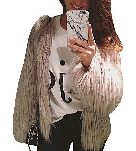 De Et Taille En Xl Clair Beige Kaki Renard Femme Col Fuweiencore Veste Fourrure Long Douces Parka À couleur fF841