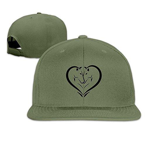 MaNeg Horses In Love Unisex Fashion Cool Adjustable Snapback Baseball Cap Hat One Size