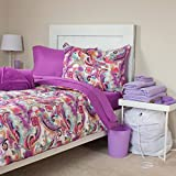 Lavish Home 24-Piece Natalie Kids Bedroom and Bathroom Comforter Towels Set, Twin X-Large
