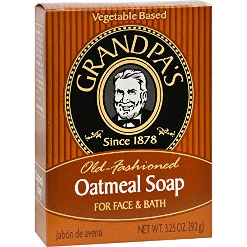Grandpas Oatmeal Bar Soap for Face and Bath - 3.25 oz (Bar Ounce 3.25 Bath)