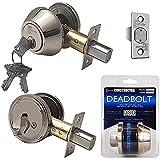 Constructor CON-DBT-SS-S Constructor Deadbolt Door Lock Set Single Cylinder Satin Nickel Finish, Satin Nickel by CONSTRUCTOR
