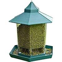 منصة طعام للطيور قابلة للتعليق على شكل جناح وثقيل للاستخدام في الأماكن الخارجية من ديكيل