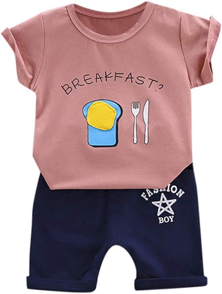 Pantaloni Corti Bimbo Pantaloncini Bambini 2 PCS Casual Outfits Topgrowth Set Neonato Camicie Maglietta A Maniche Corte Camicia Cartone Animato Stampa Carina T-Shirt Cime Tops