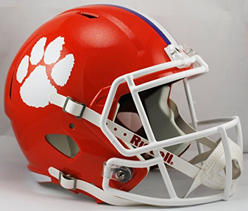 NCAA Clemson Tigers Full Size Speed Replica Helmet, Orange, Medium by Riddell