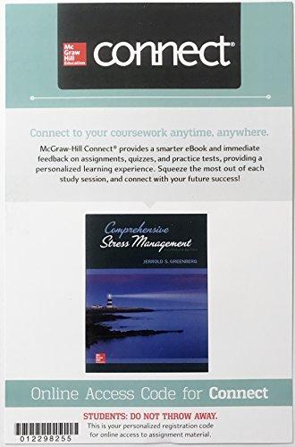 Comprehensive Stress Management Connect Online Access Code Card