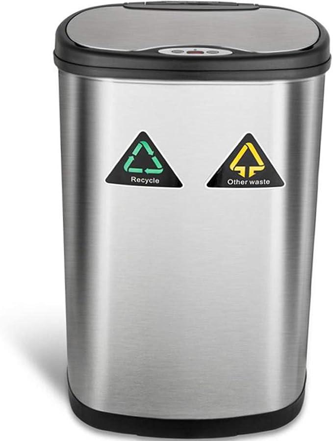 Amagabeli Automatischer Abfalleimer Mülleimer Bewegungssensor 50l Edelstahl Abfallbehälter Kücheneimer Mülltrennsystemeinfrarot Küchenabfälle Berührungslos Abfall Müll Behälter Müllbehälter Für Küche Küche Haushalt