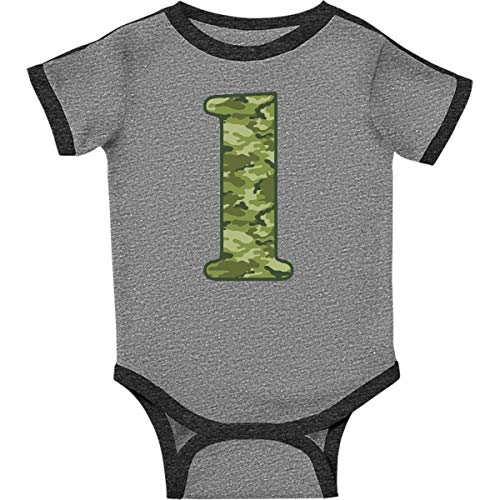 inktastic - Green Camo Infant Creeper 18 Months Ringer Heather and Smoke 20c81