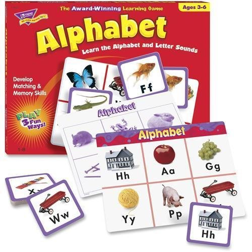 (T-58101 Trend Match Me Alphabet Game - Educational - 1 to 8 Players)