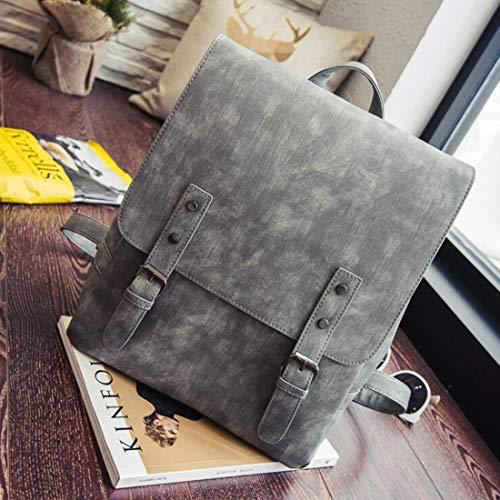 vintage leggera resistente La nero Houyazhan a all'acqua colore donna in grigio tracolla Pu Borsa pelle H10zqwZ0x