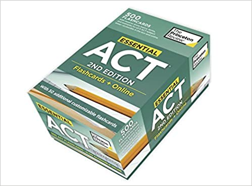 Essential ACT, 2nd Edition: Flashcards + Online: 500 Need-to-Know Topics and Terms to Help Boost Your ACT Score (College Test Preparation)