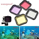 ULT-unite GoPro Diving Filter Kit Professional Underwater Converter Standard Housing Scuba Accessory for Gopro Hero4 Hero3+ cameras Hero 3+ Hero 4 - Action Camera