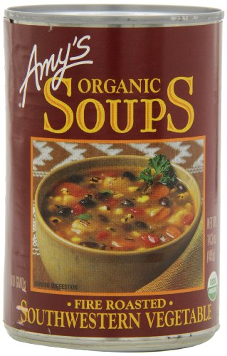 Amy's Organic Fire Roasted Southwest Vegetable Soup,14.3-Ounce Cans (Pack of 12) (Amys Soup Black Bean)