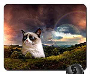 GRUMPY KITTY Mouse Pad, Mousepad (Cats Mouse Pad)
