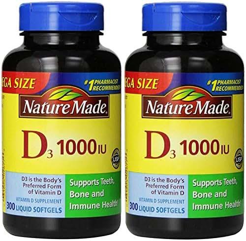 Nature Made® Vitamin D3 1000 IU, 600 Softgels