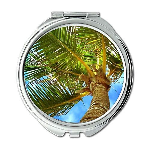 Mirror,Compact Mirror,beach caribbean clouds,Pocket Mirror,portable -