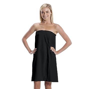 Amazoncom Microfiber Bath Wrap Towel for Women Black One Size