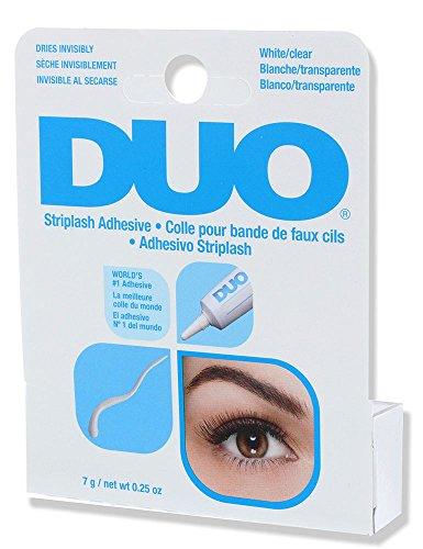 DUO Strip Lash Adhesive White/Clear, for strip false eyelash, 0.25 (Duos Costumes)