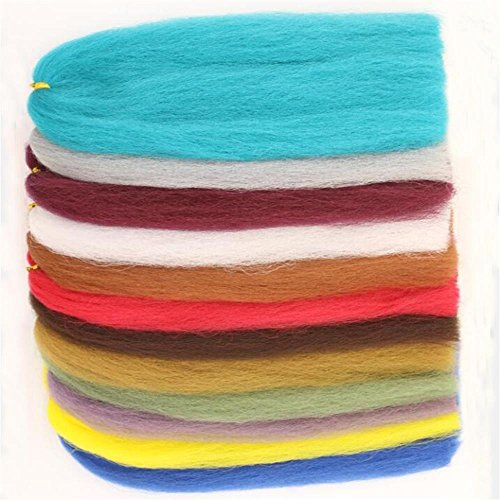 Flyart 12 Colors Synthetic EP Silky Fibers 3D Soft Fluffy Fibre Fly Tying Materials