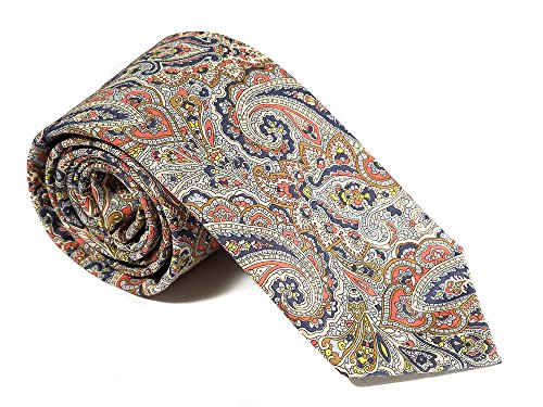 Piccadilly Luxury Neckties for Men: Liberty London Cotton Necktie, Classic Floral (Label Necktie)