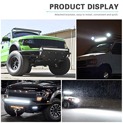 YITAMOTOR-24-Inch-Light-Bar-Offroad-Spot-Flood-Combo-Led-Bar-Waterproof-Dual-Row-LED-Work-Light-with-Wiring-Harness-compatible-for-Truck-4X4-ATV-Boat-Jeep-LED-Light-Bar-120W-White