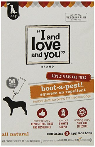 I and love and you, Flea and Tick Boot-a-pest! Squeeze on Medium Dog 3 Applicators