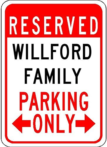 Metal Signs Willford Family Parking - Customized Last Name - 12